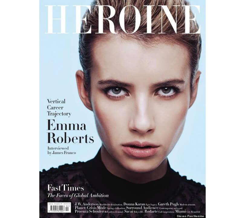 HEROINE Magazine  Emma Roberts