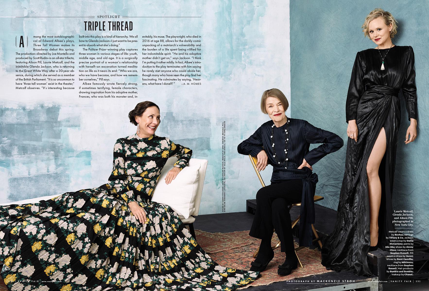 Vanity Fair USA / Laurie Metcalf / Glenda Jackson / Alison Pill