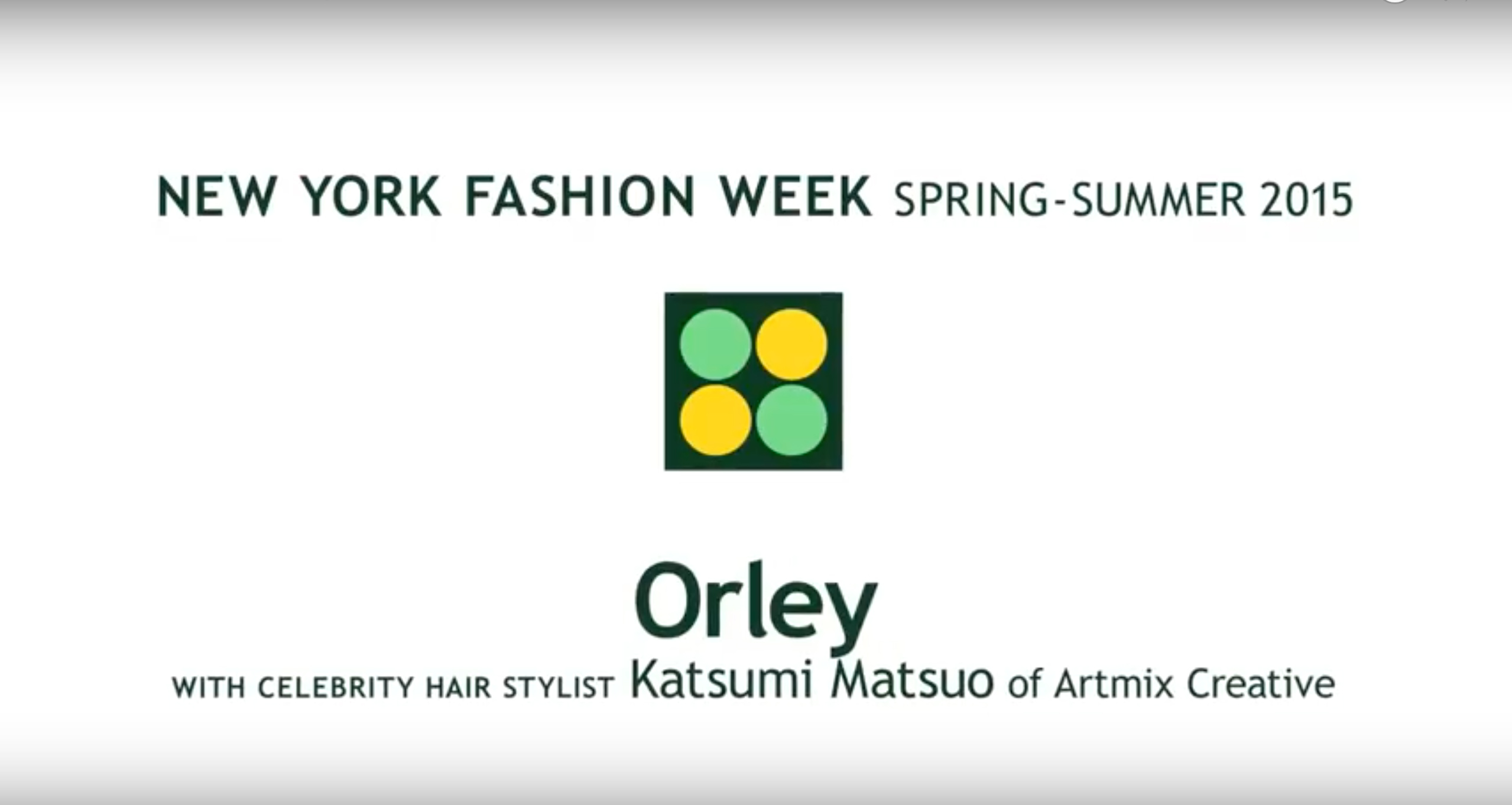 Rene Furterer for Orley at New York Fashion Week SS15